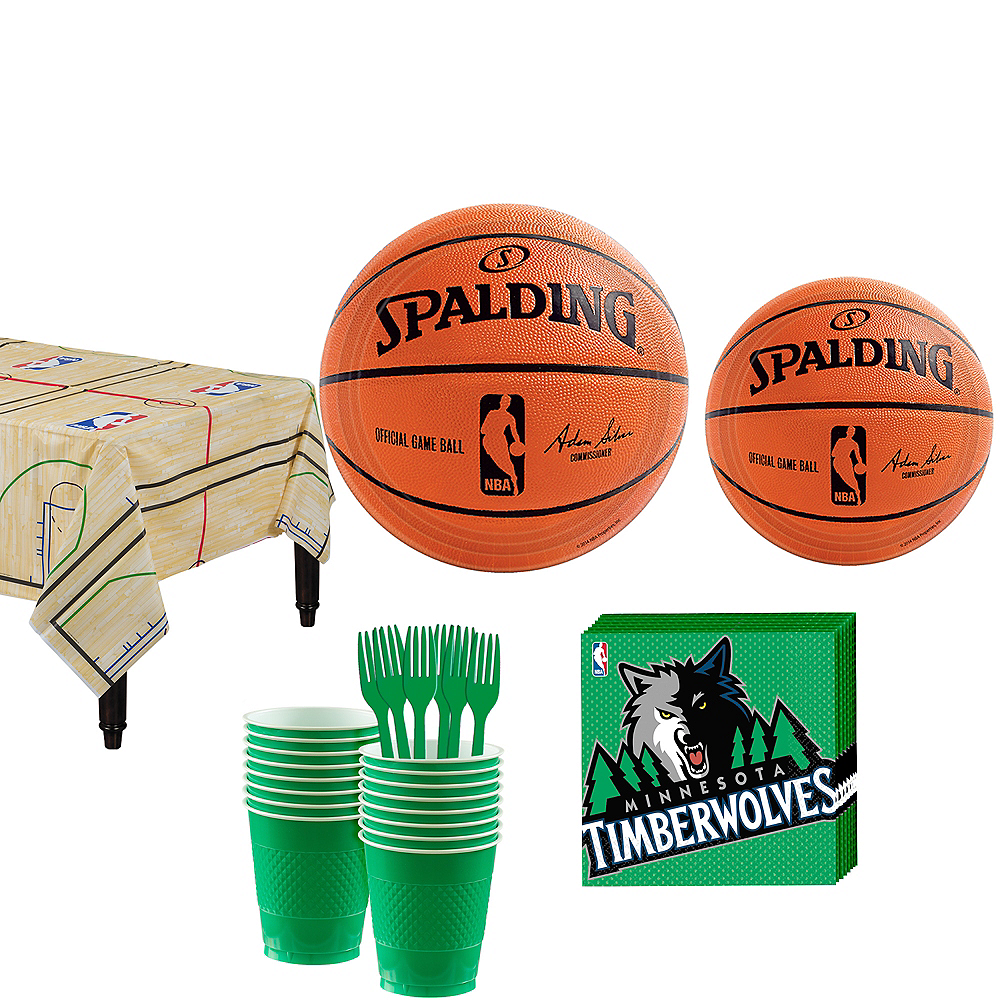 Minnesota Timberwolves Party Kit 16 Guests Image #1