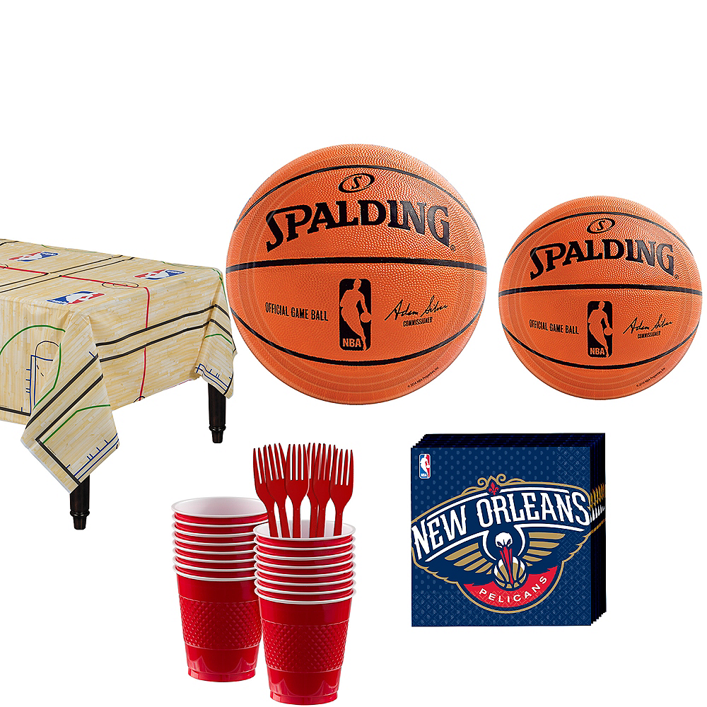 New Orleans Pelicans Party Kit 16 Guests Image #1