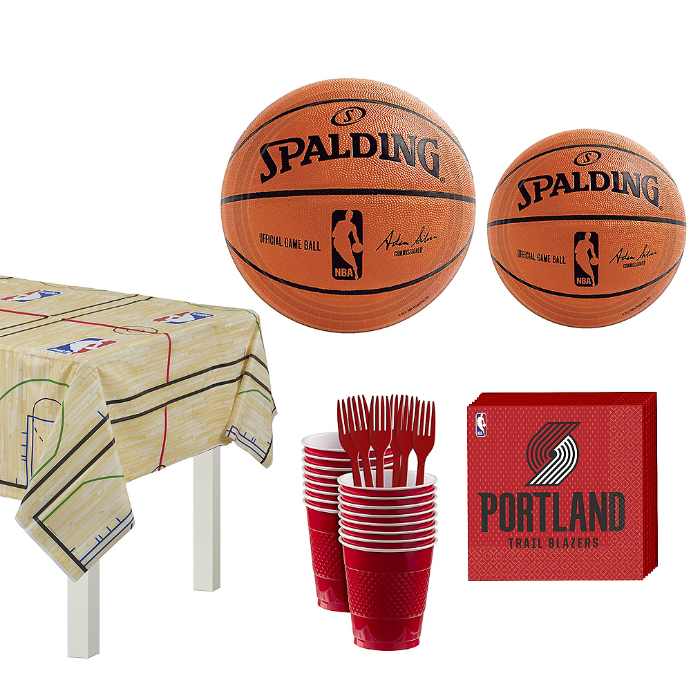 Portland Trail Blazers Party Kit 16 Guests Image #1