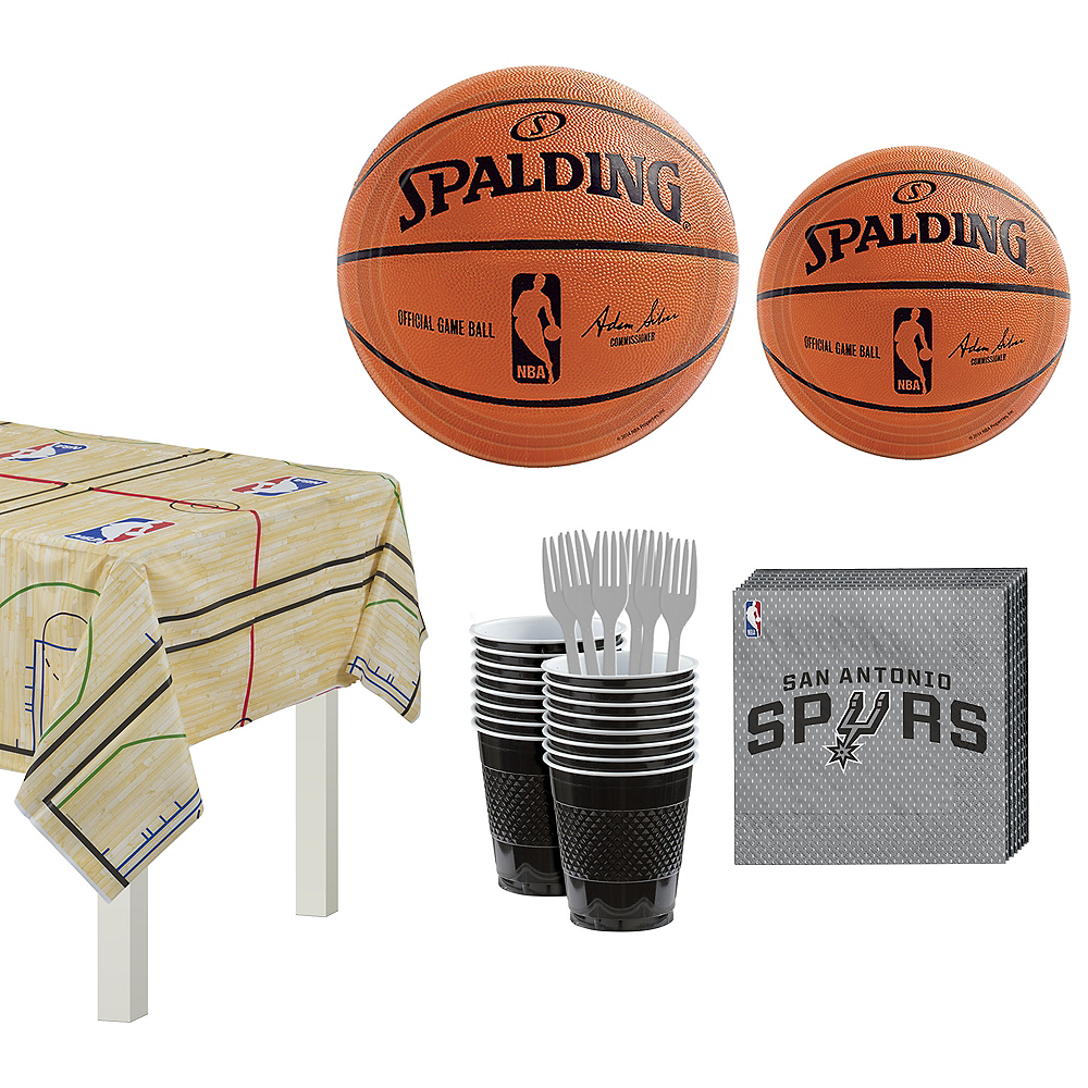 Nav Item for San Antonio Spurs Party Kit 16 Guests Image #1