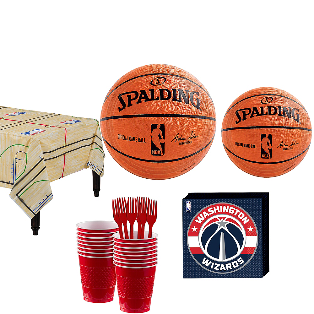 Washington Wizards Party Kit 16 Guests Image #1