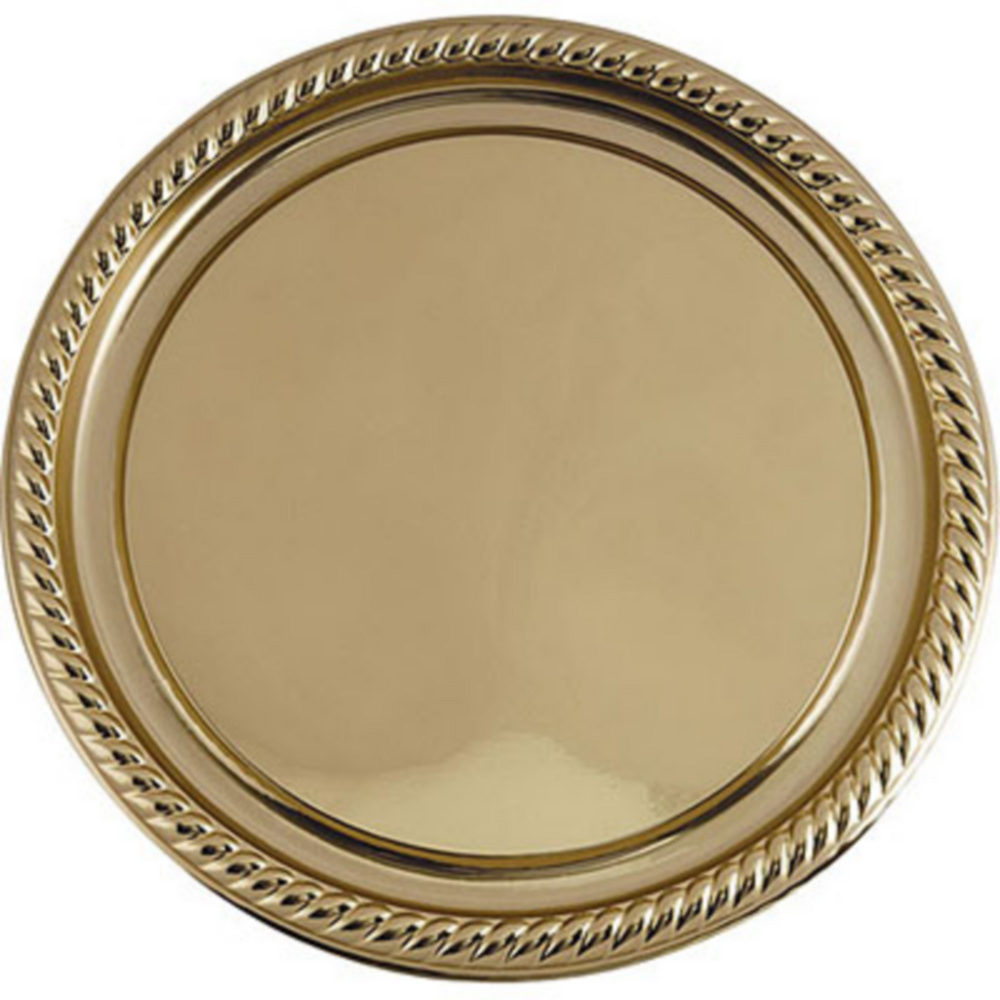 Gold Plastic Braided Edge Platter Image #1