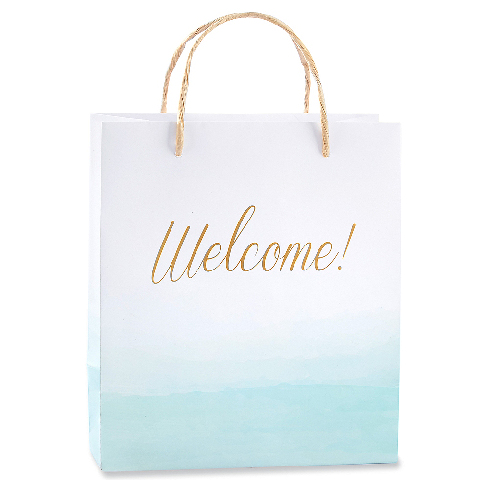 Blue Ombre Welcome Gift Bags Image #1