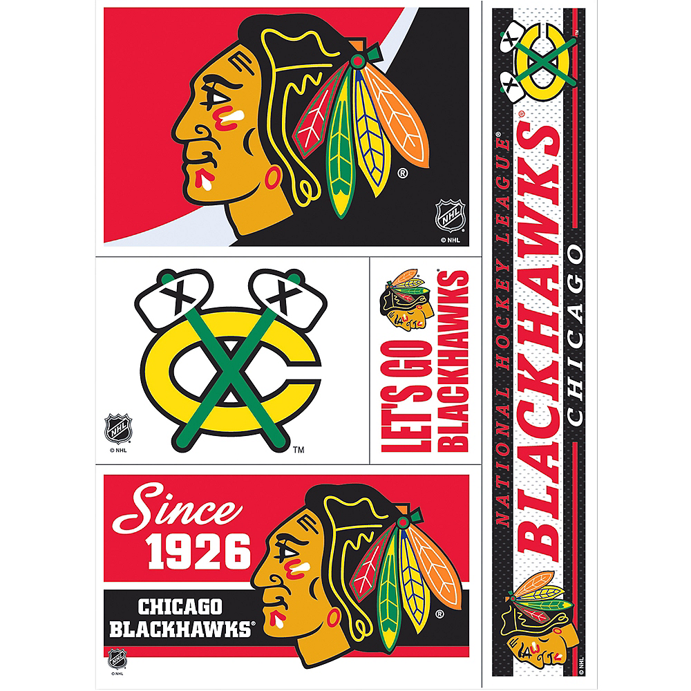 Chicago Blackhawks Decals 5ct Image #1