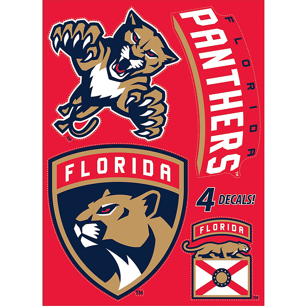 Florida Panthers Decals 5ct Image #1