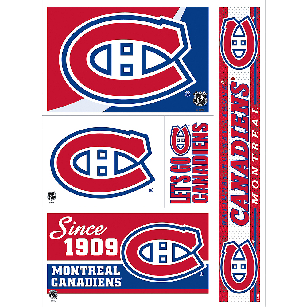 quality design dbc15 7f284 Montreal Canadiens Decals 5ct
