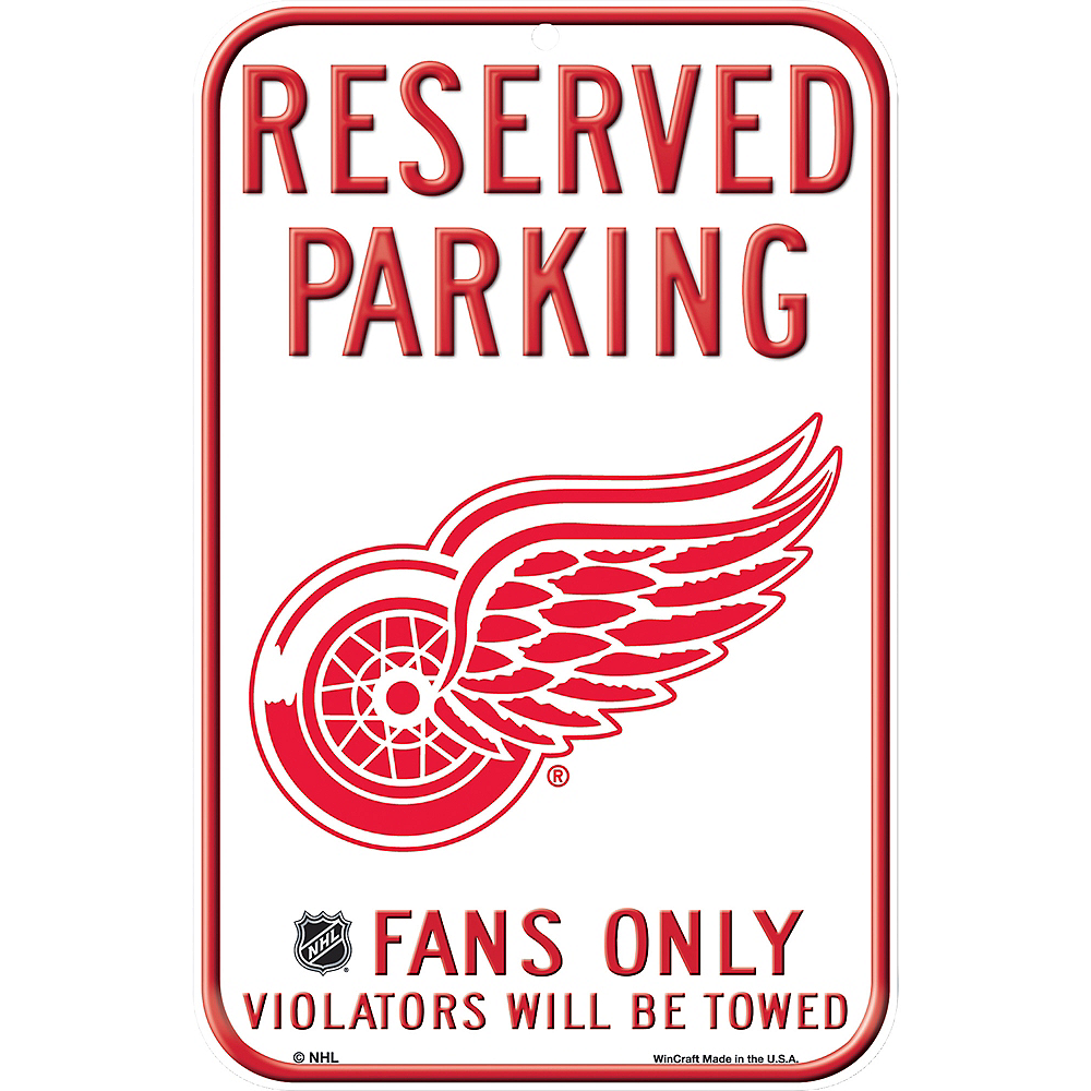 Reserved Parking Detroit Red Wings Sign Image #1