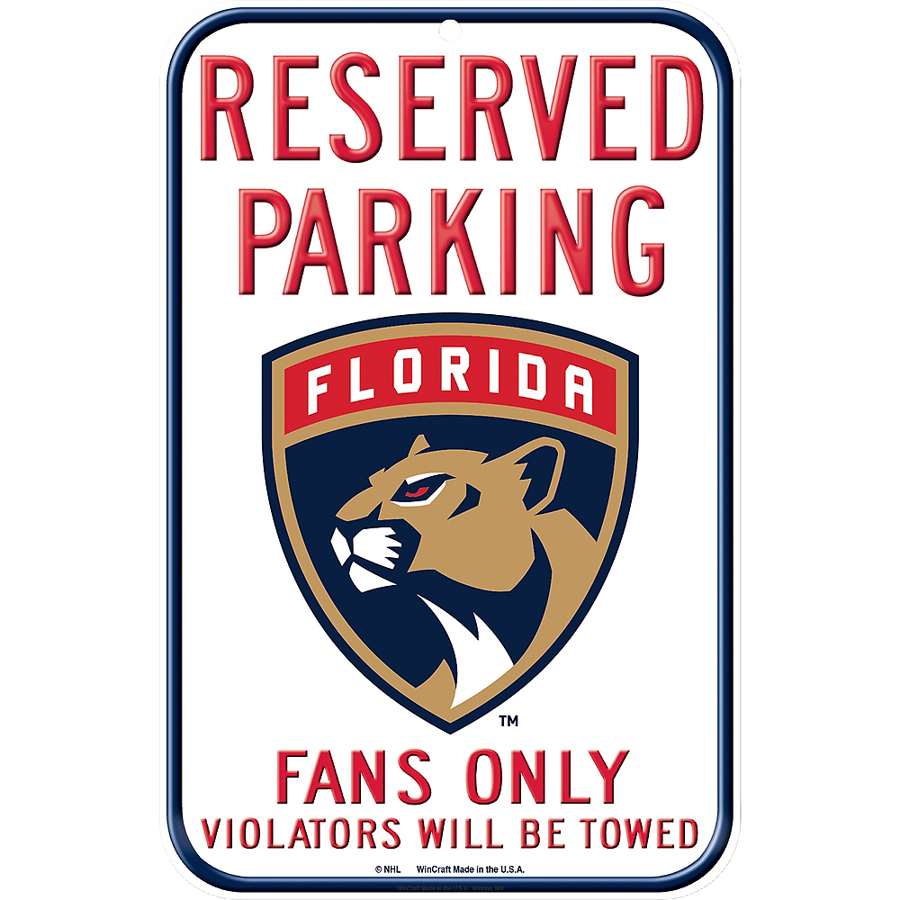 Reserved Parking Florida Panthers Sign Image #1