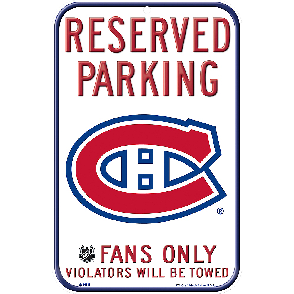 Reserved Parking Montreal Canadiens Sign Image #1