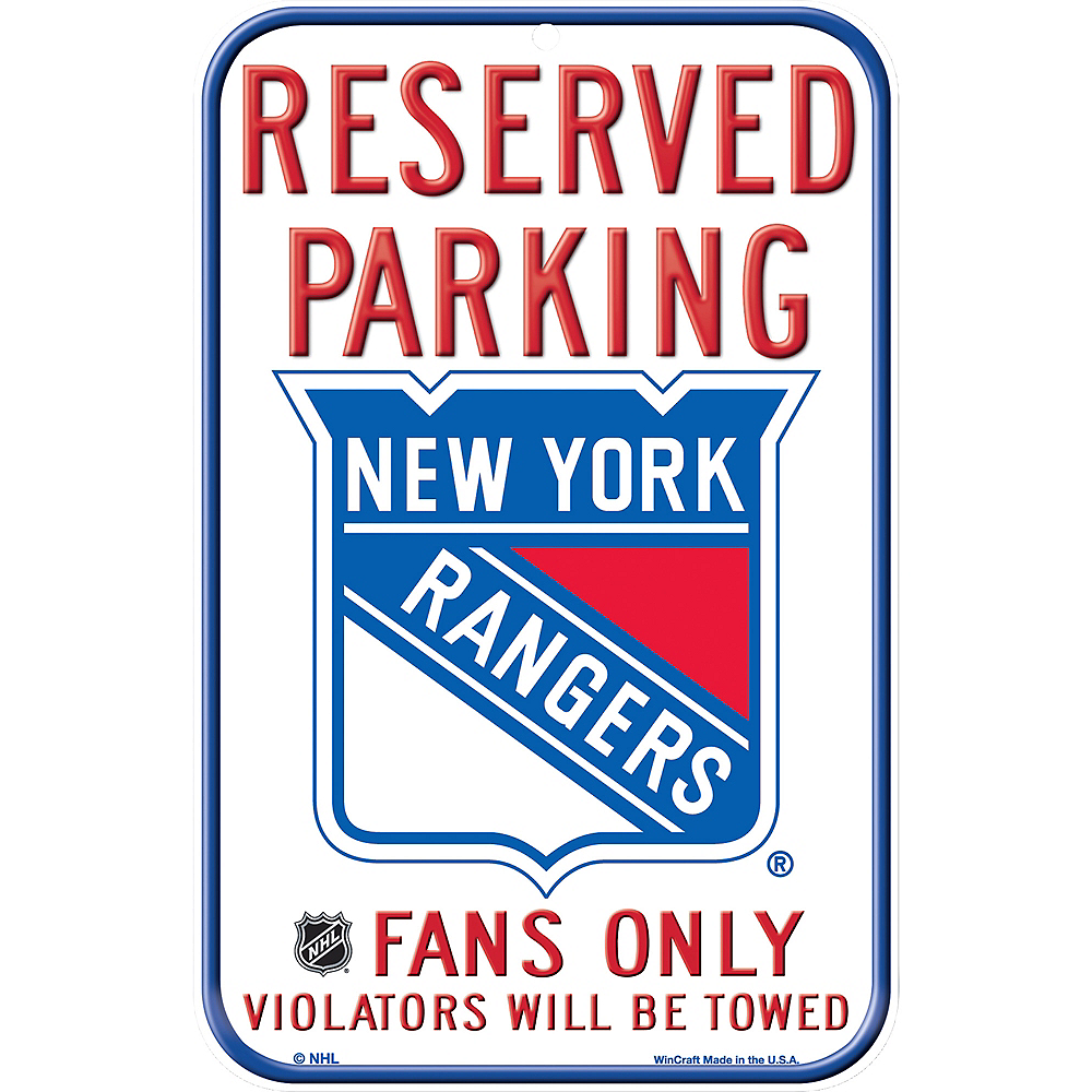 Reserved Parking New York Rangers Sign Image #1