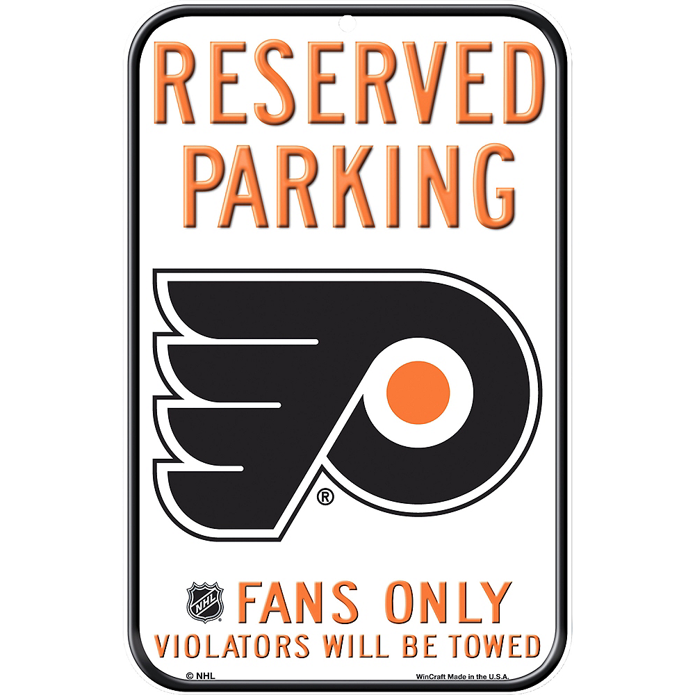 Reserved Parking Philadelphia Flyers Sign Image #1