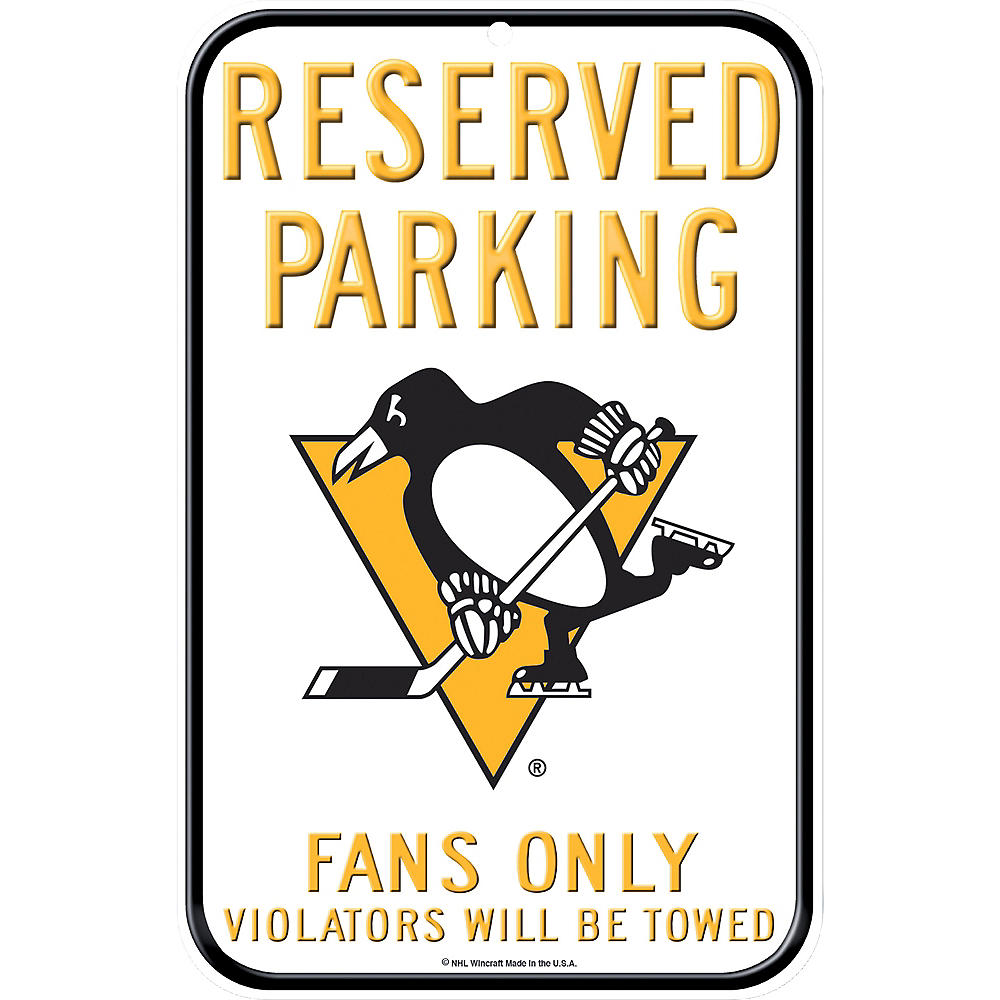 Reserved Parking Pittsburgh Penguins Sign Image #1