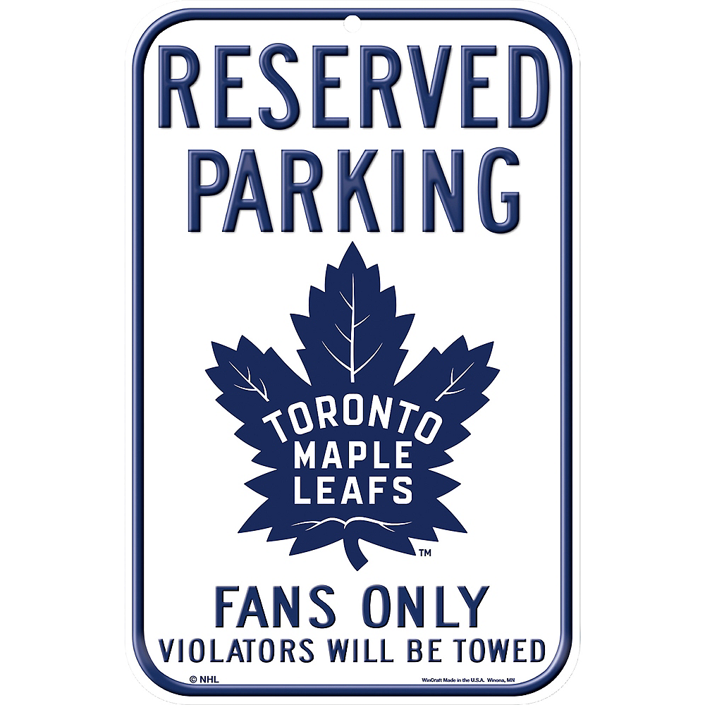 Reserved Parking Toronto Maple Leafs Sign Image #1