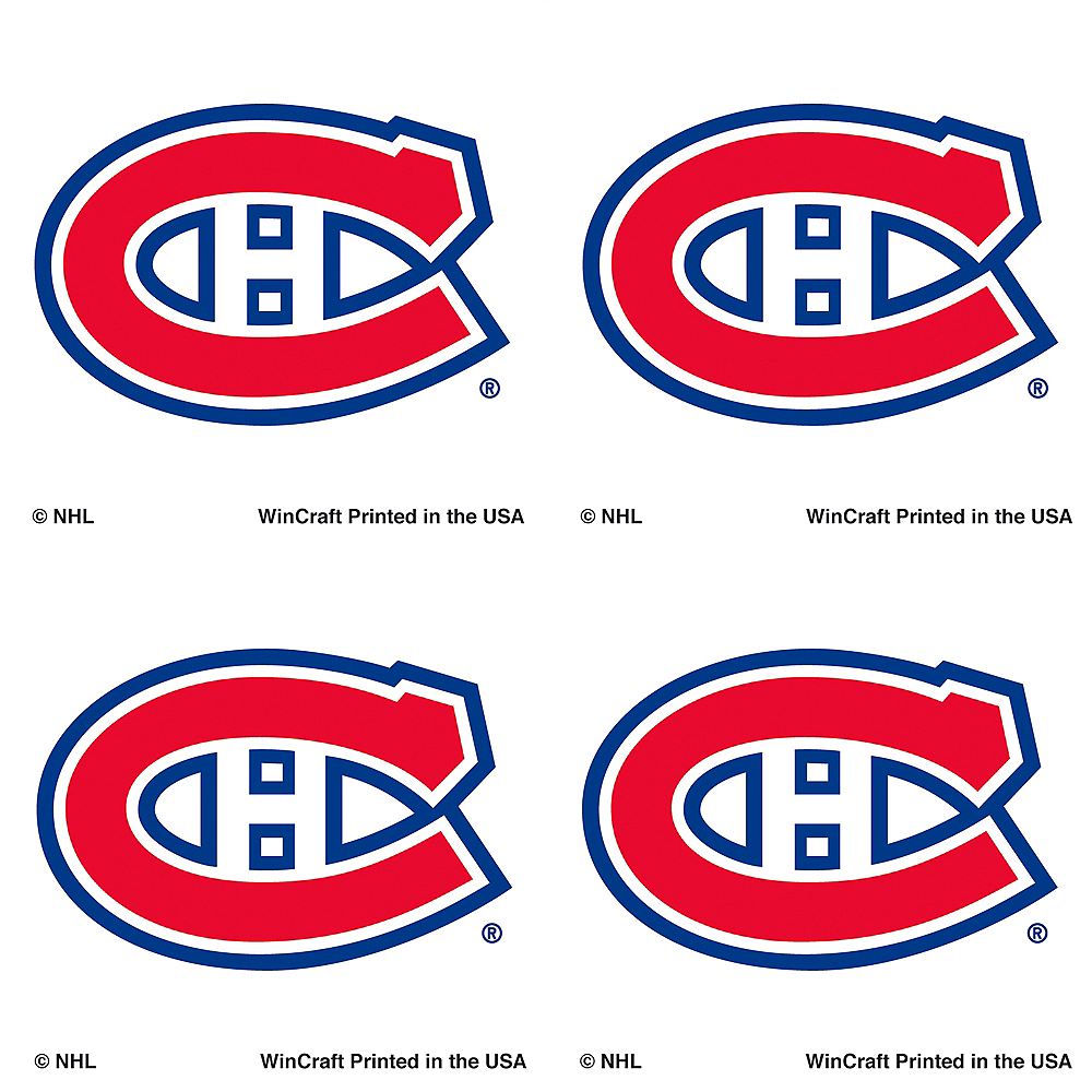 Montreal Canadiens Face Tattoos 4ct Image #1
