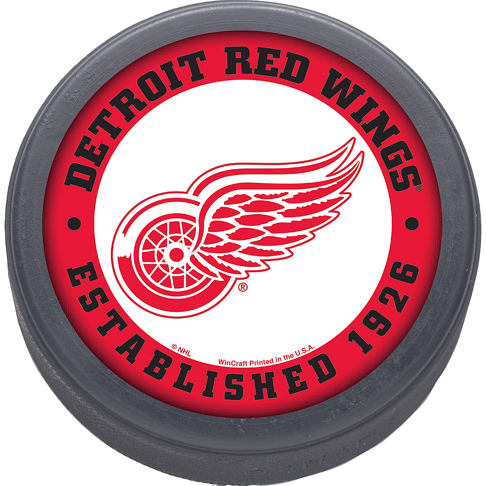 Detroit Red Wings Hockey Puck Image #1