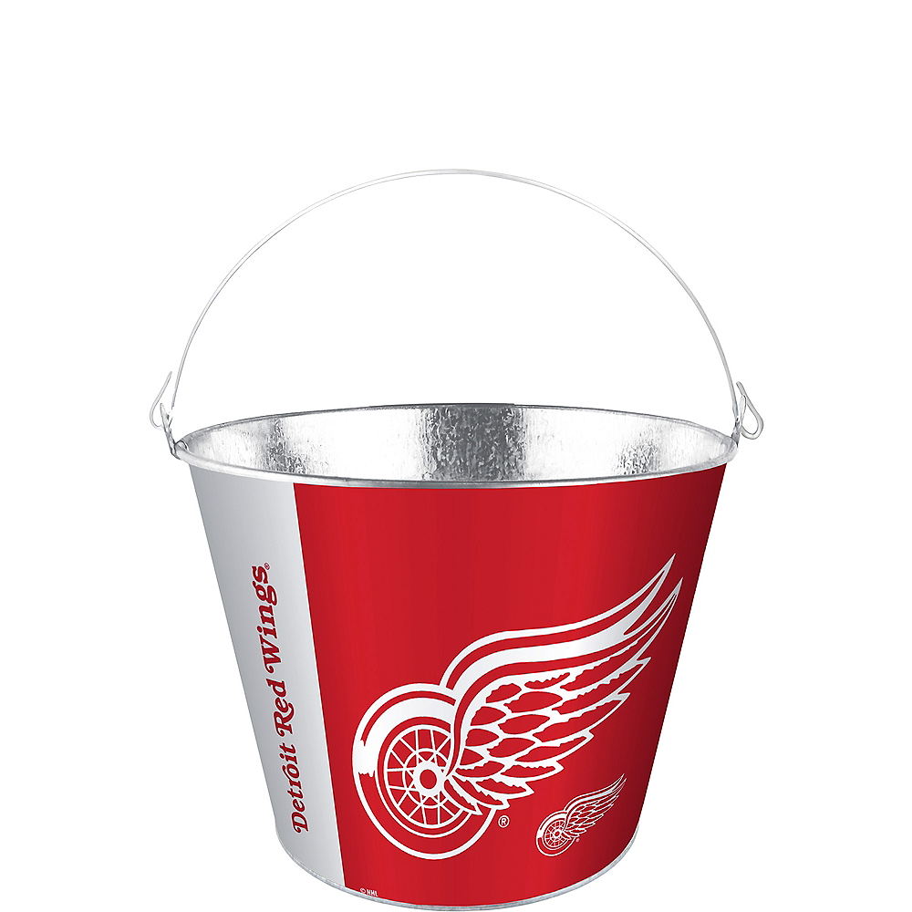 Detroit Red Wings Galvanized Bucket Image #1