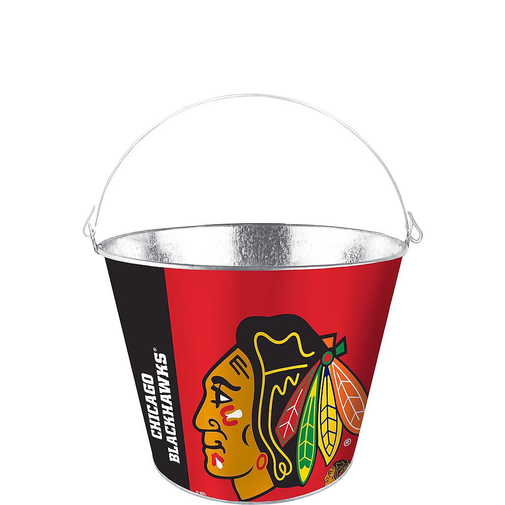 Chicago Blackhawks Galvanized Bucket Image #1
