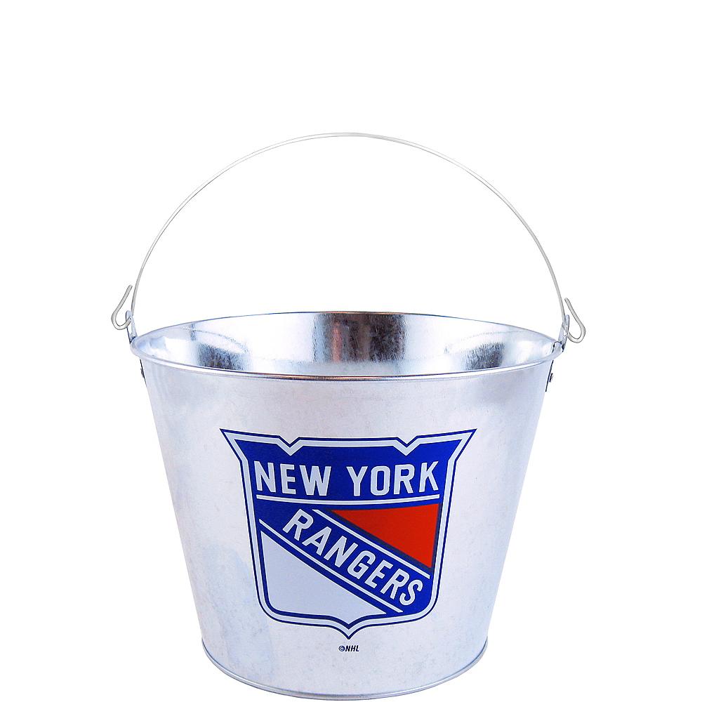 New York Rangers Galvanized Bucket Image #1