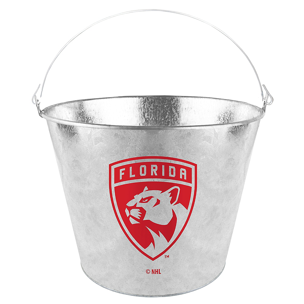 Nav Item for Florida Panthers Galvanized Bucket Image #1