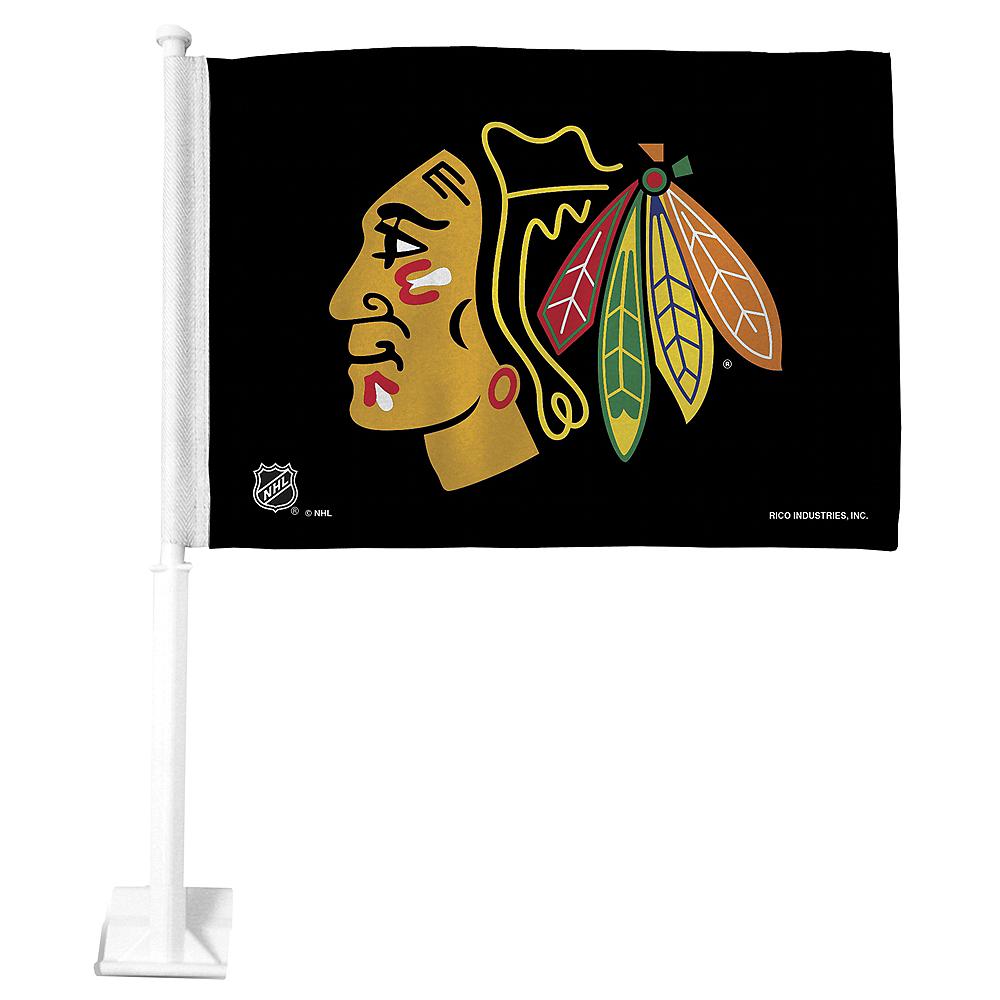 Chicago Blackhawks Car Flag Image #1
