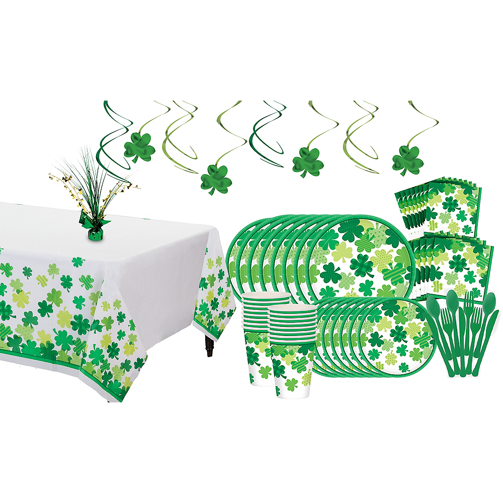 Blooming Shamrock Tableware Kit for 8 Guests Image #1