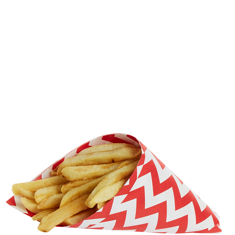 Red Chevron Paper Basket Liners 16ct Image #3