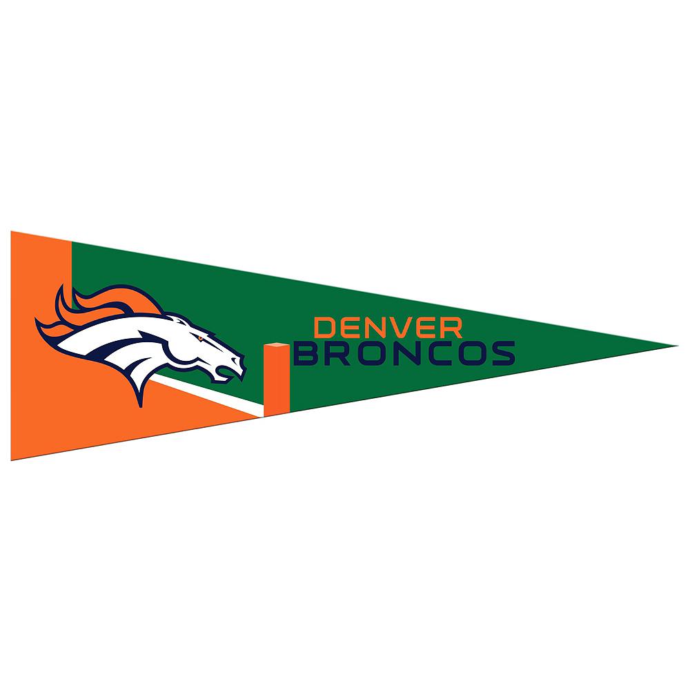 Small Denver Broncos Pennant Flag Image #1