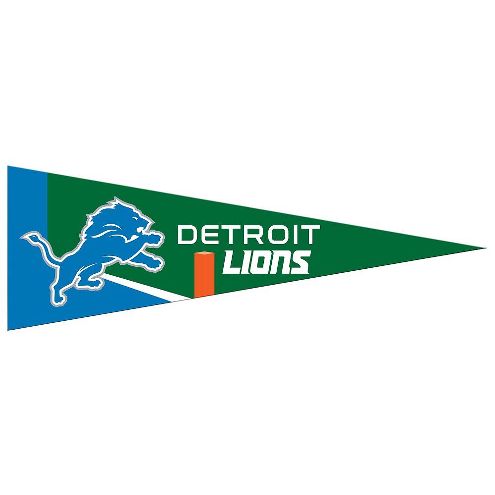 Small Detroit Lions Pennant Flag Image #1