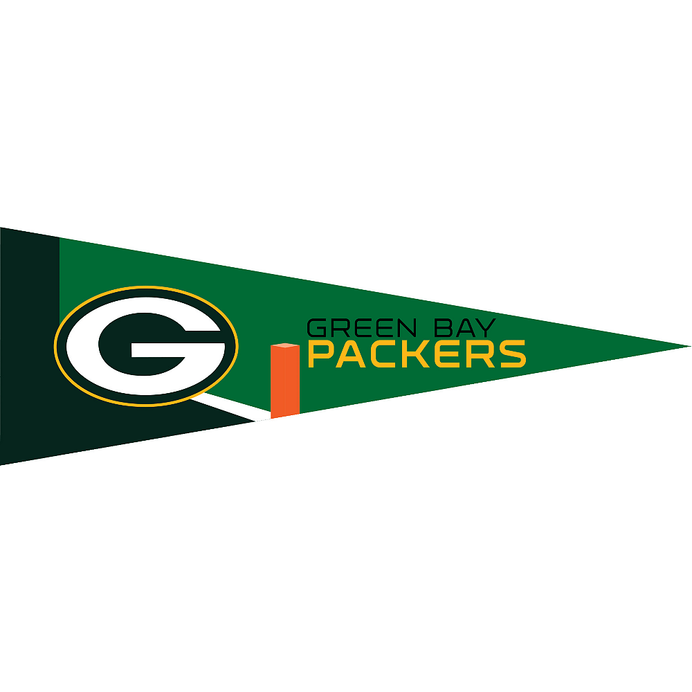 Small Green Bay Packers Pennant Flag Image #1