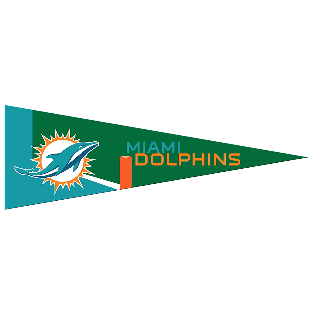 Small Miami Dolphins Pennant Flag Image #1