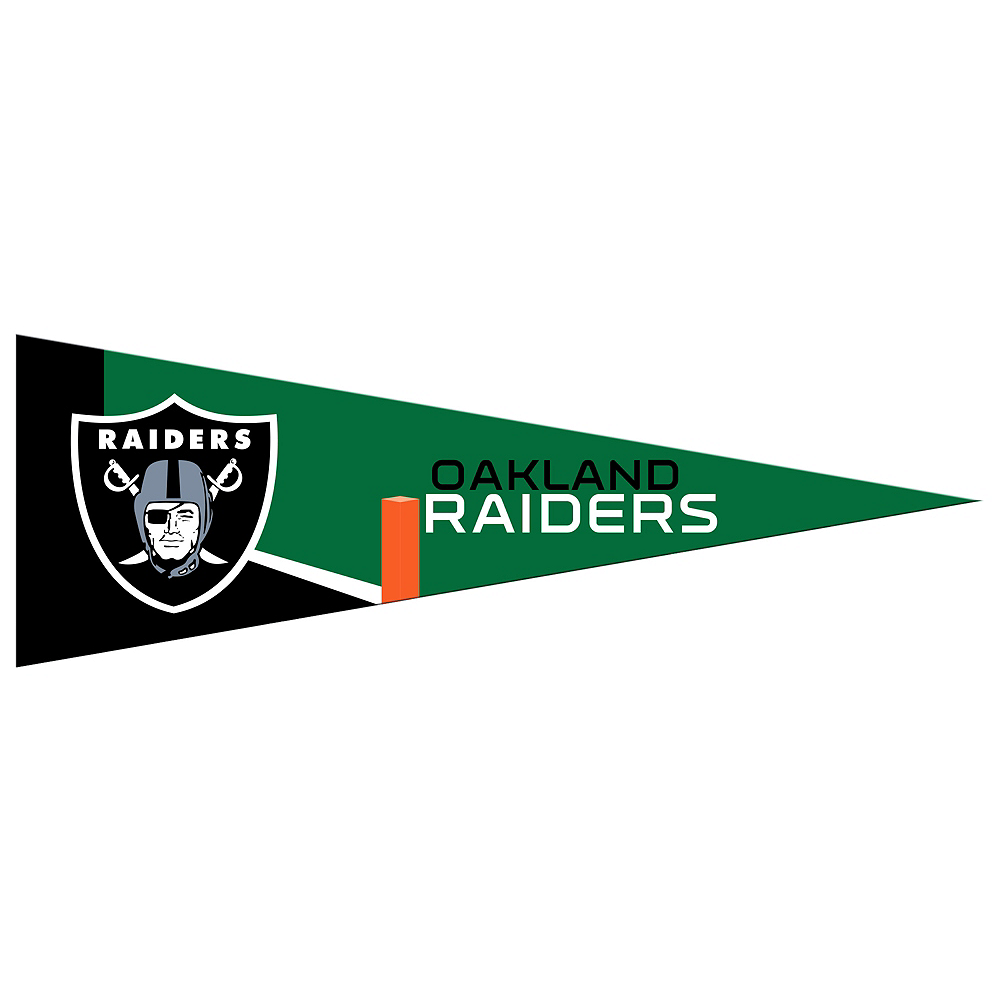 Nav Item for Small Oakland Raiders Pennant Flag Image #1