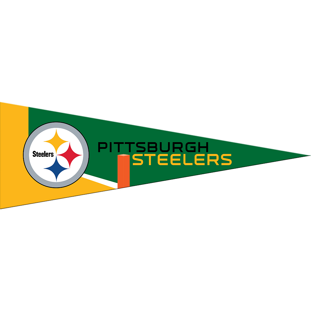 Small Pittsburgh Steelers Pennant Flag Image #1