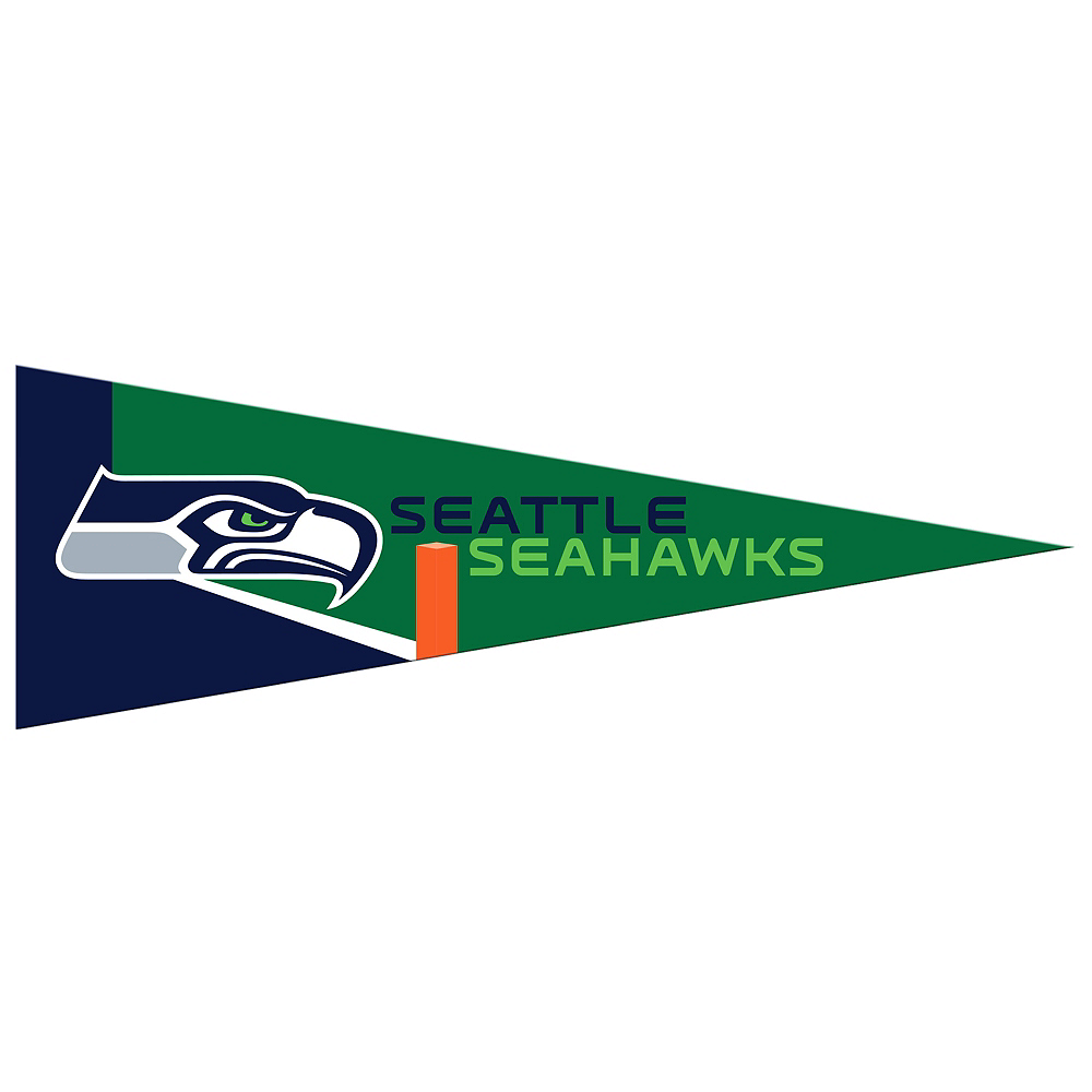 Small Seattle Seahawks Pennant Flag Image #1