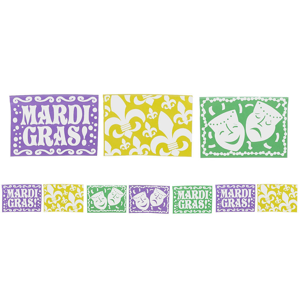 Masquerade Mardi Gras Basic Party Kit for 8 Guests Image #9