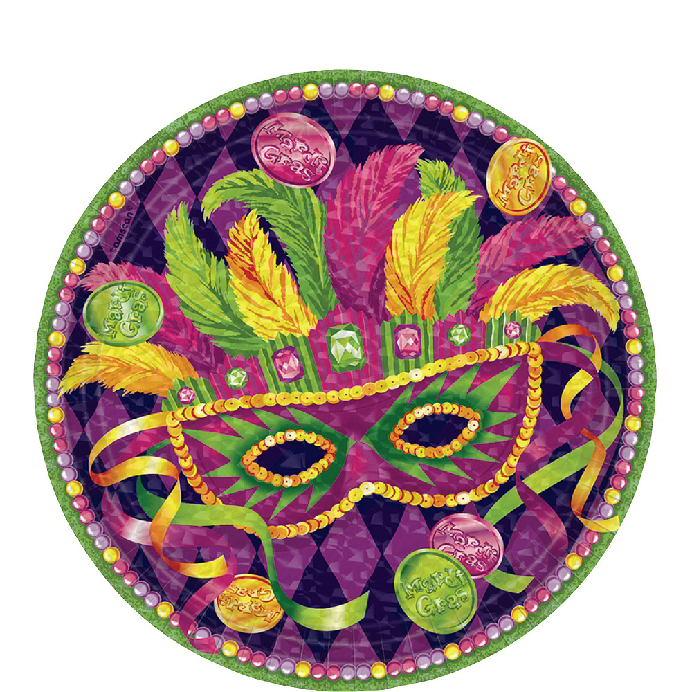 Masquerade Mardi Gras Basic Party Kit for 16 Guests Image #2