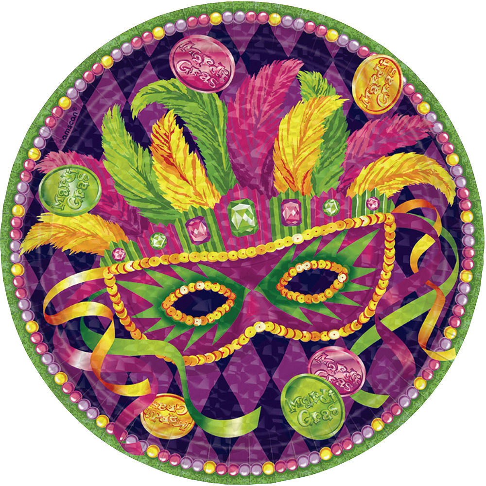 Masquerade Mardi Gras Basic Party Kit for 16 Guests Image #3