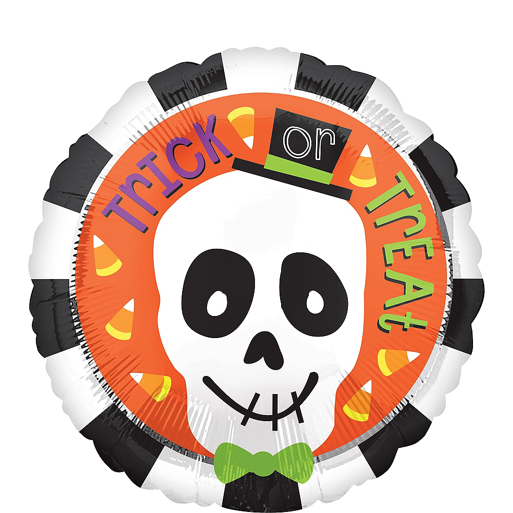 Trick Or Treat Skeleton Balloon 17in Party City Canada