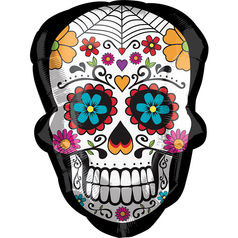 Nav Item for Day of the Dead Sugar Skull Balloon Image #1