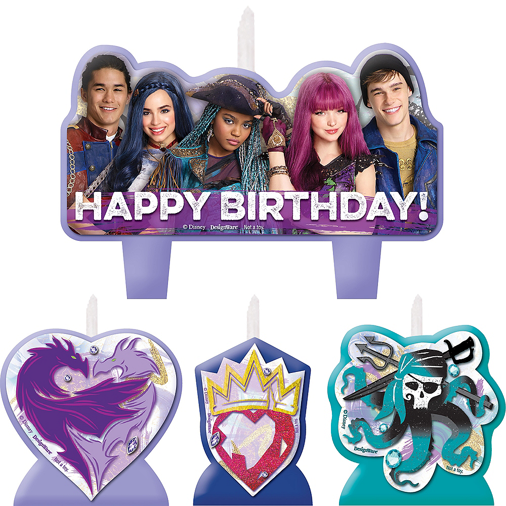 Descendants 2 Birthday Candles 4ct Image 1