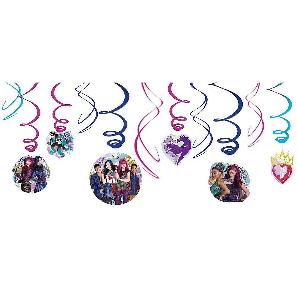 Descendants 2 Swirl Decorations 12ct Image #1