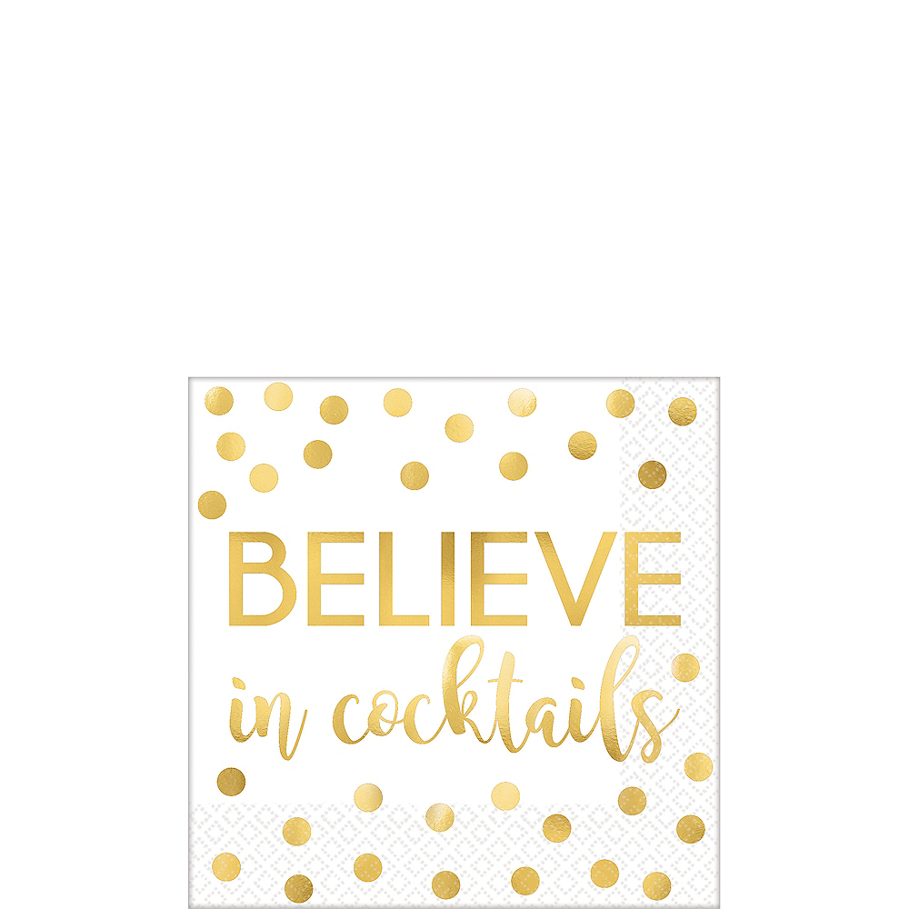 Believe In Cocktails Beverage Napkins 16ct Image #1