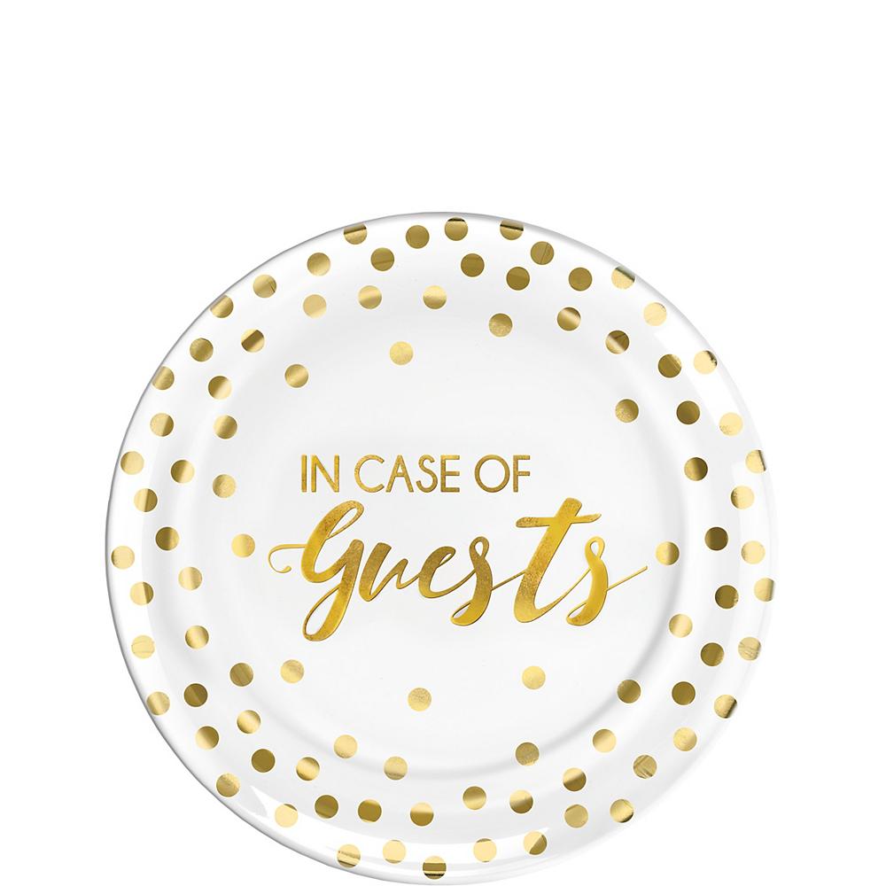 In Case Of Guests Premium Plastic Dessert Plates 20ct Image #1