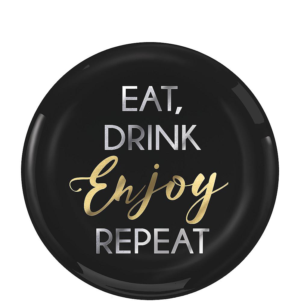 Eat, Drink, Enjoy, Repeat Premium Plastic Dessert Plates 20ct Image #1