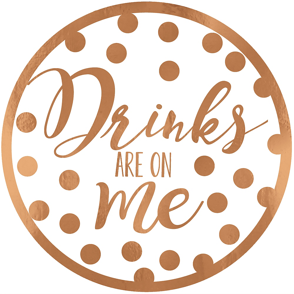 Drinks Are On Me Coasters 18ct Image #1