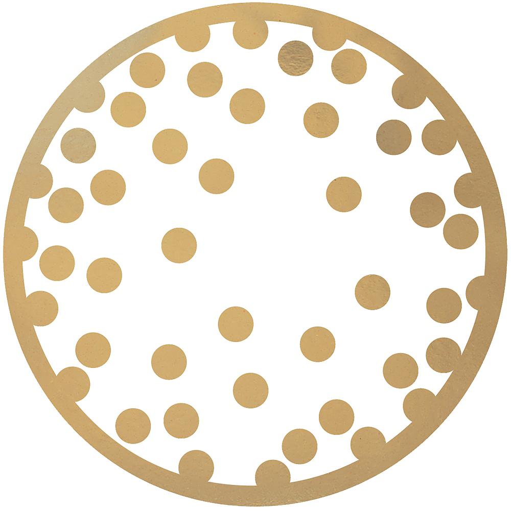 Gold Polka Dot Coasters 18ct Image #1