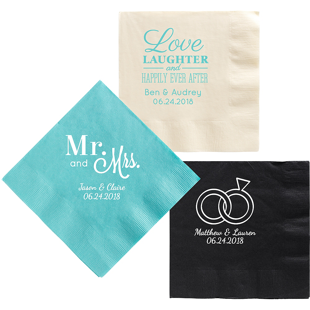 Nav Item for Personalized Wedding Dinner Napkins Image #1
