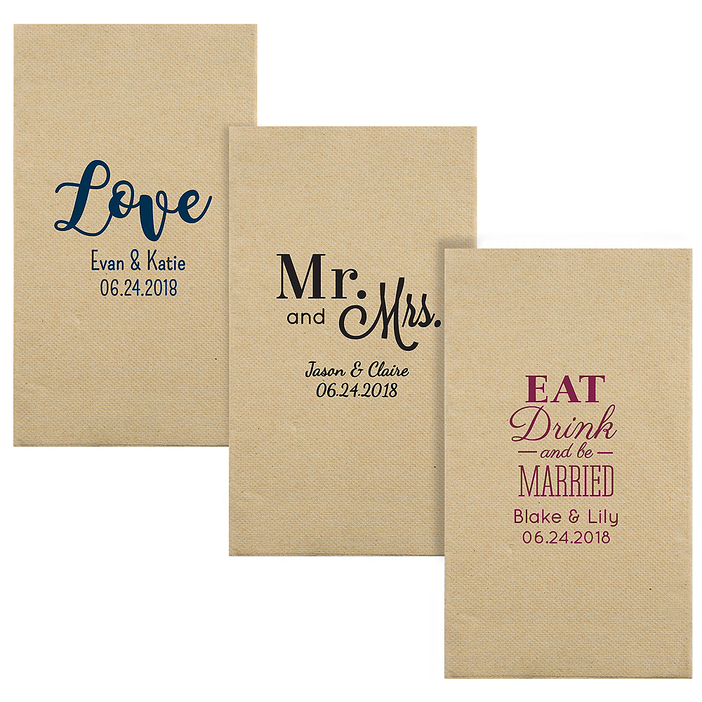 Personalized Wedding Eco-Friendly Guest Towels Image #1