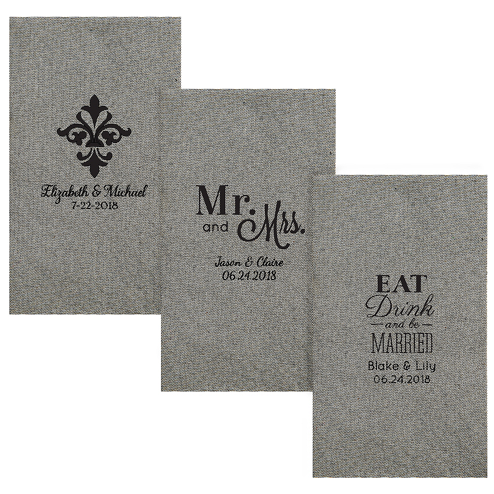 Personalized Wedding Tweed Print Guest Towels Image #1