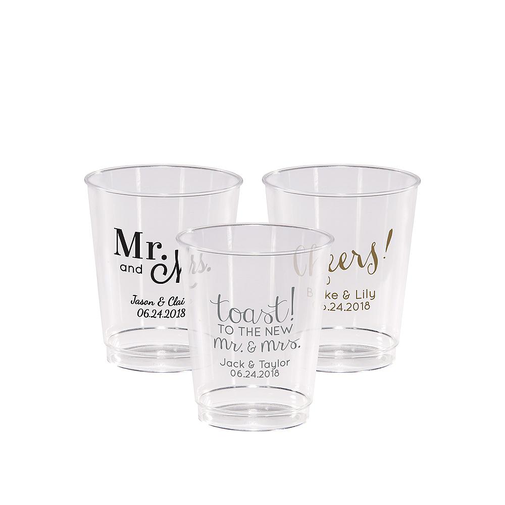 Personalized Wedding Hard Plastic Cups 8oz Image #1