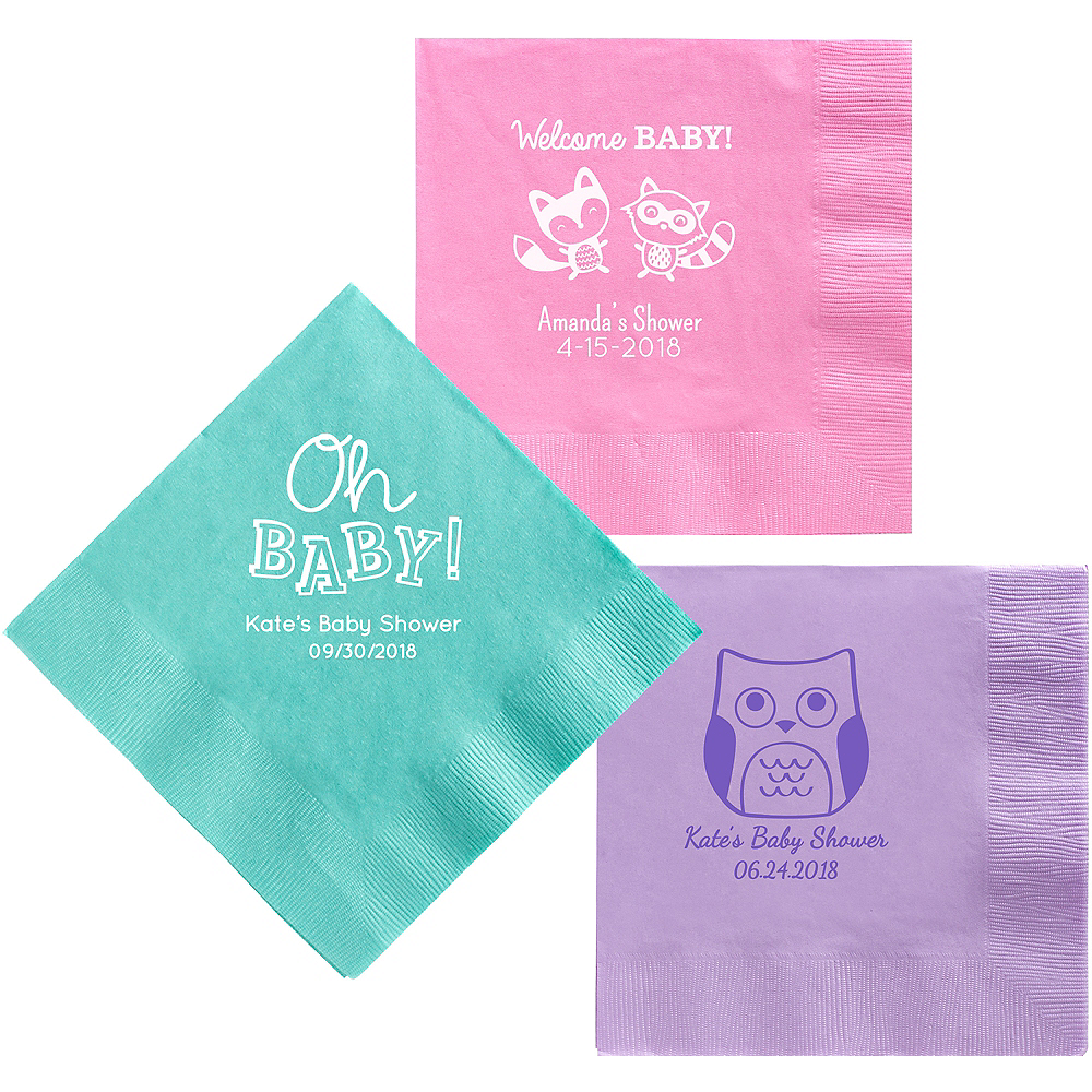 Personalized Baby Shower Dinner Napkins Image #1